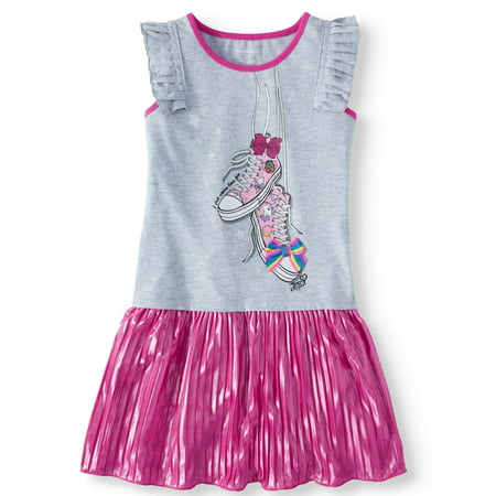 - 3D Bow Pleated Jersey Dress (Little Girls & Big Girls)