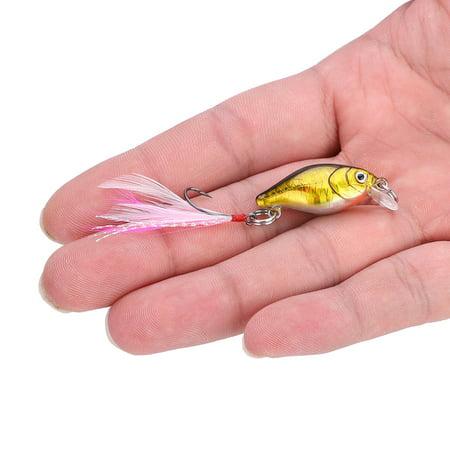 Spptty 5pcs mini leurre artificielle appâts de plumes artificielles ensemble de matériel de pêche s'attaquer avec crochet simple, appâts de plumes, faux appâts - image 2 de 8