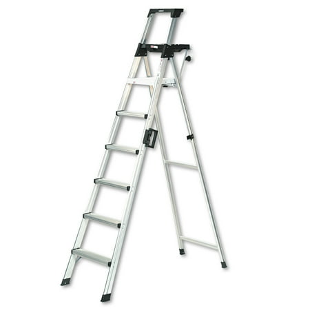(Cosco 8 ft. Signature Series Aluminum Folding Step Ladder with Leg Lock & Handle, 300 lb. Type IA Duty Rating)
