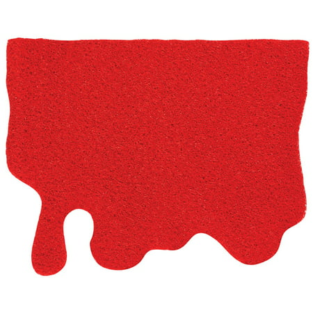 Red Blood Splatter Doormat - Halloween Decor - 24