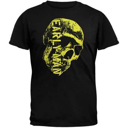 He Man Gray Skull - Early Man Skull T-Shirt