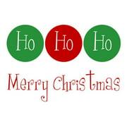Secretly Designed Ho Ho Ho Merry Christmas by Secretly Spoiled Textual Art
