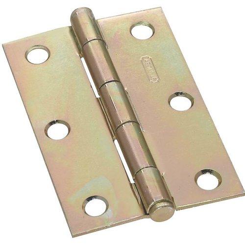 Stanley 690190 Full Mortise Light Narrow Cabinet Hinge, 4 Hole, 3 in L, Steel