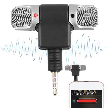 Phone Microphone, EEEKit Portable Mini Mobile Phone Microphone 3.5mm Stereo Voice Audio Sound Mic for Recording Youtube  Interview Video Conference Podcast Voice