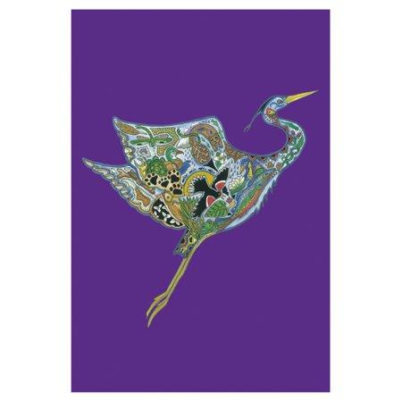Toland Home Garden Animal Spirits - Heron in Flight Flag