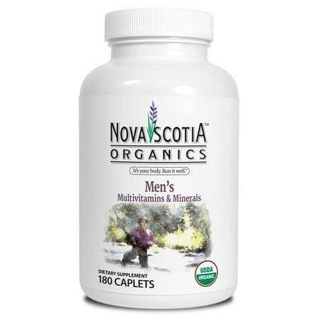 Nova Scotia Organics Mens Multivitamins And Minerals Caplets  180 Ct
