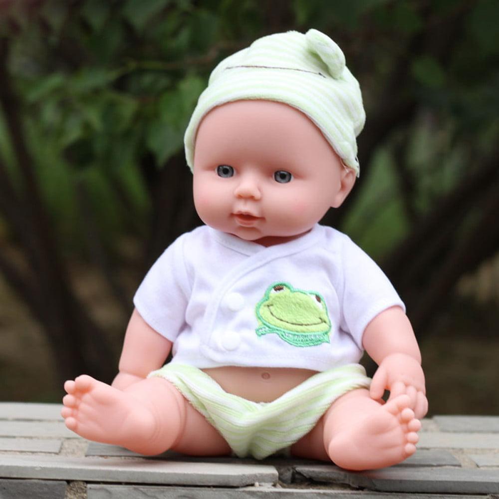 Mosunx Baby Emulated Doll Soft Children Reborn Baby Doll Toys Boy Girl Birthday Gift GN