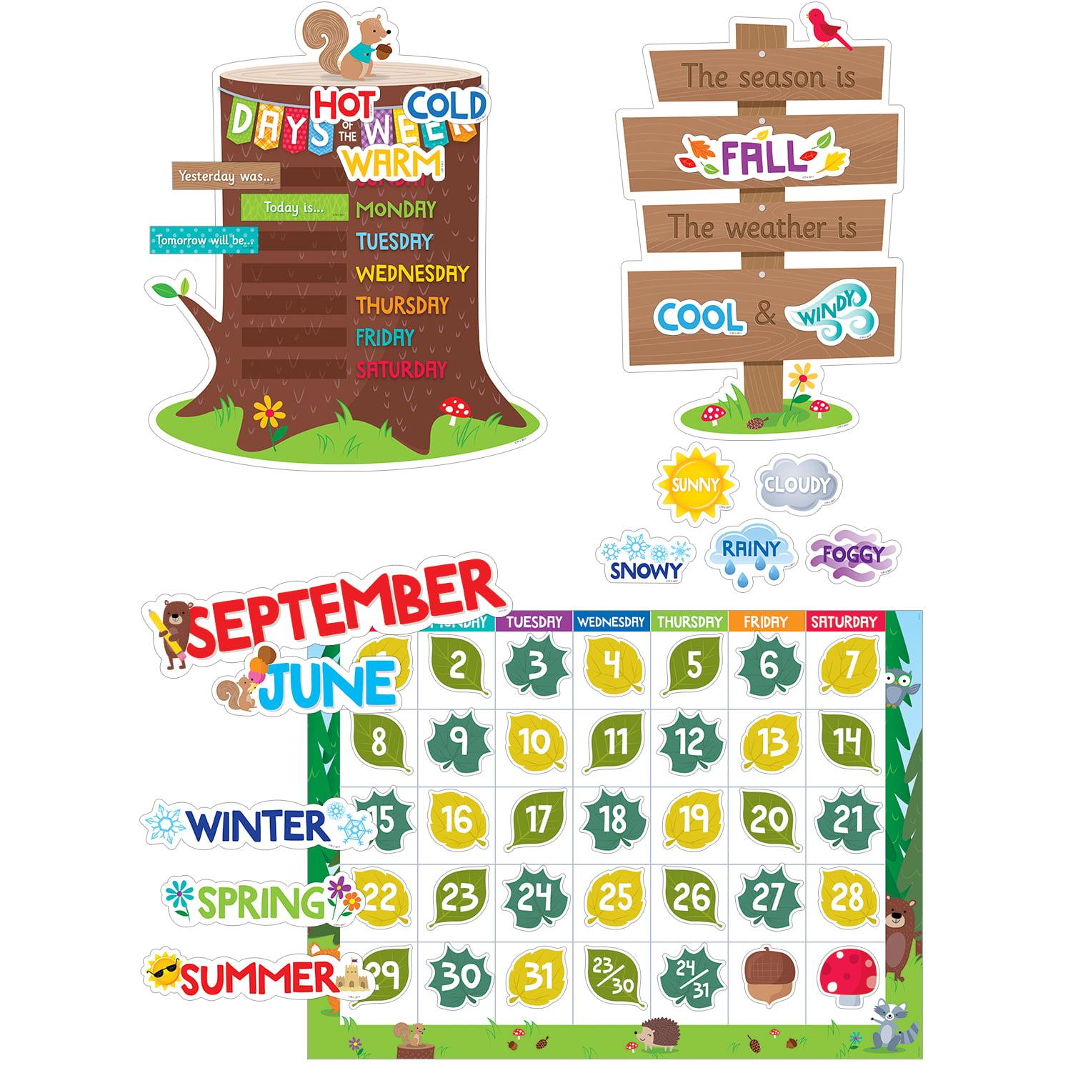 Woodland Friends Calendar Set Bulletin Board, CTP 8006