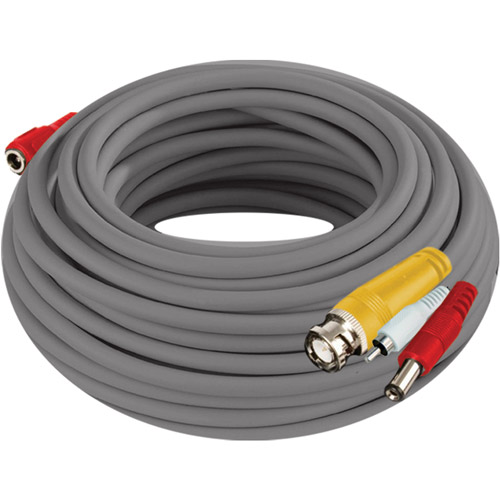 Night Owl CAB-24AWGG-100VP-A 24AWG BNC Video/Power/Audio Camera Extension Cable with Adapter, 100'