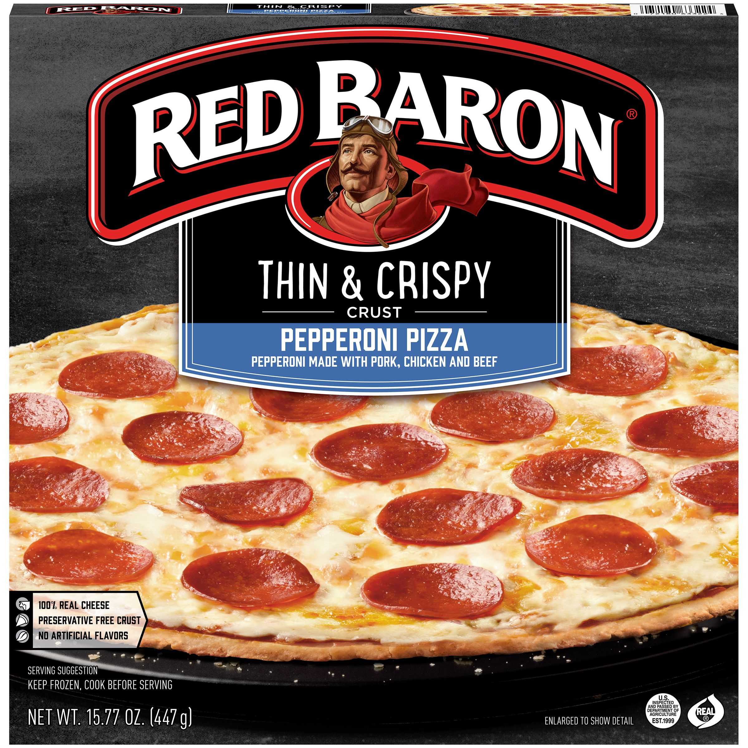 Red Baron® Thin & Crispy Crust Pepperoni Pizza 15.77 oz. Box