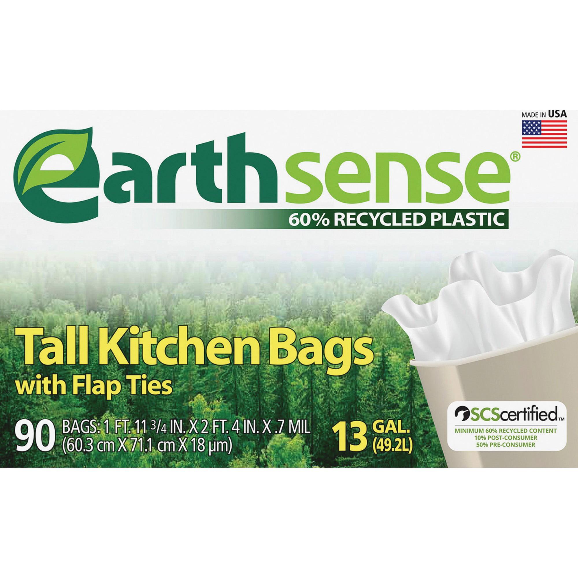 Earthsense Tall Kitchen Trash Bags, 13 Gallon, 90 Count