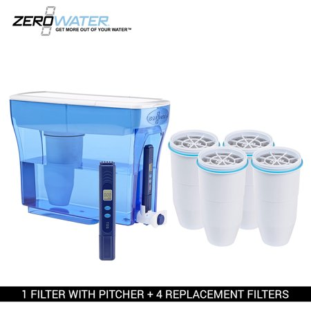 ZEROWater 23 Cup Pitcher Bundle-4 Pack Ion Exchange Water (Best Way To Get Clean Drinking Water)
