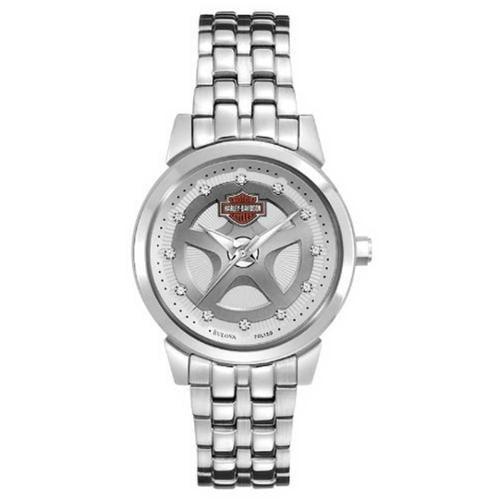 Harley-Davidson Women's Bulova Crystal Bracelet Wrist Wat...