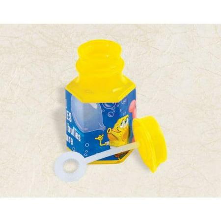 Amscan Cool SpongeBob Mini Party Bubbles, 2-1/8 x 1-1/4, Yellow