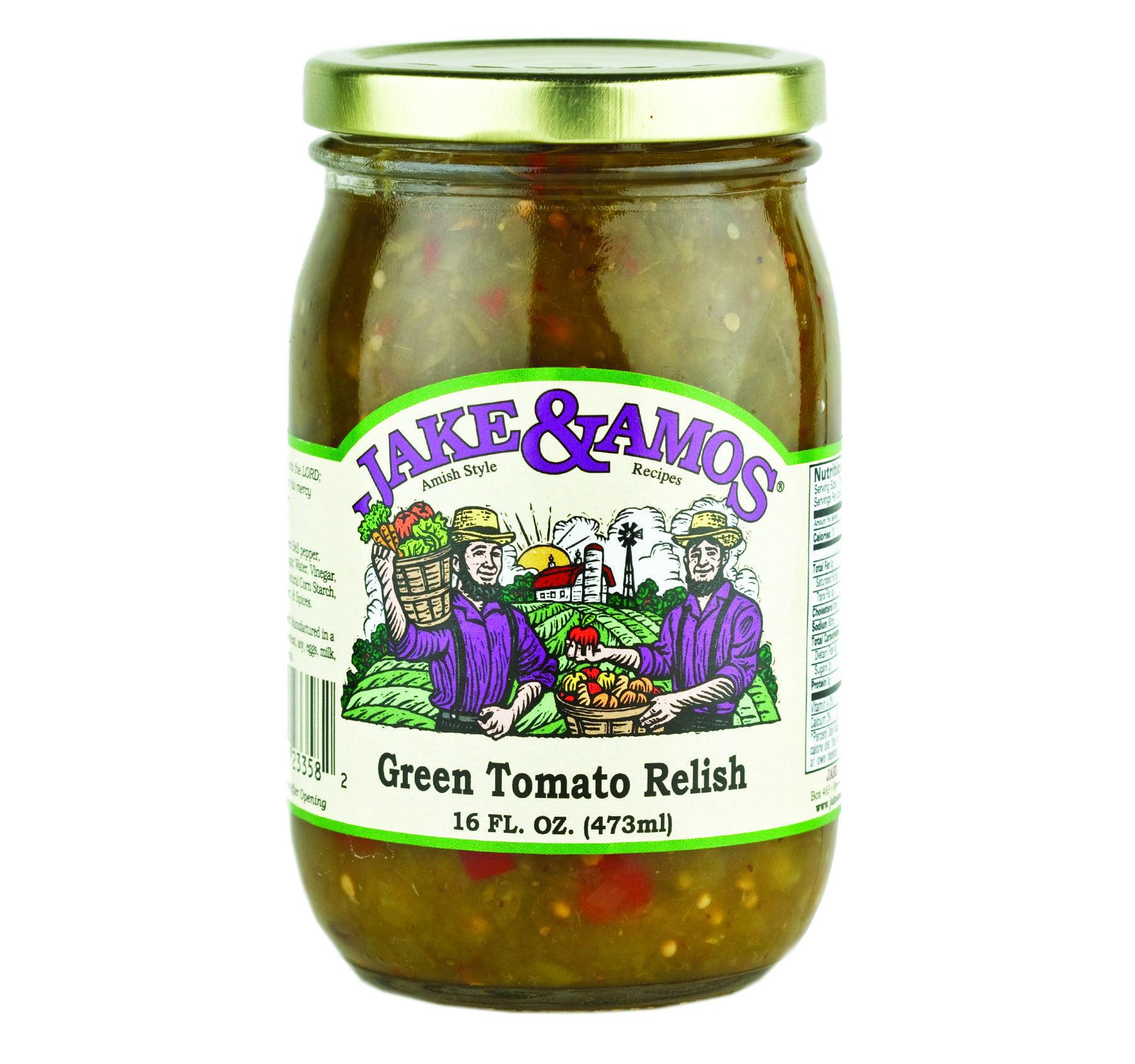 Jake & Amos Green Tomato Relish 16 oz. (3 Jars)