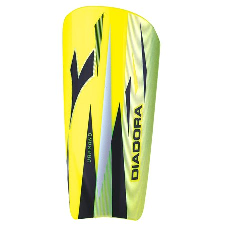 Diadora Unisex Uragano Soccer Shinguards Yellow Black XL Diadora Black Shin Guard