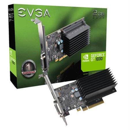 EVGA NVIDIA GeForce GT 1030 DDR4 Passive 2GB SDDR4 DVI-HDMI Low Profile  PCI-Express Video Card