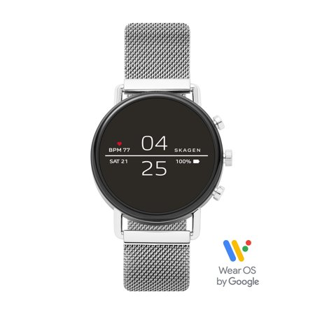 Skagen Falster 2 Smartwatch - Magnetic Steel-Mesh - Powered with Wear OS by Google™