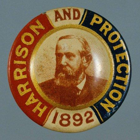 Benjamin Harrison Campaign Button Print Wall Art By David J. Frent