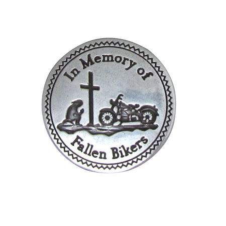 In Memory of Bikers Motorcycle Vest Saddlebag Concho Leathercraft (Biker Concho)