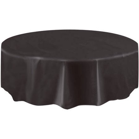 Magnificent Black Plastic Party Tablecloth Round 84In Download Free Architecture Designs Xaembritishbridgeorg
