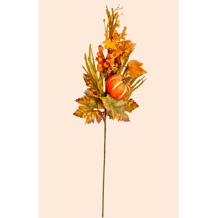 Worth Imports 26'' Fall Spray with Long Grasses, Berries, Pumpkins and Leaves