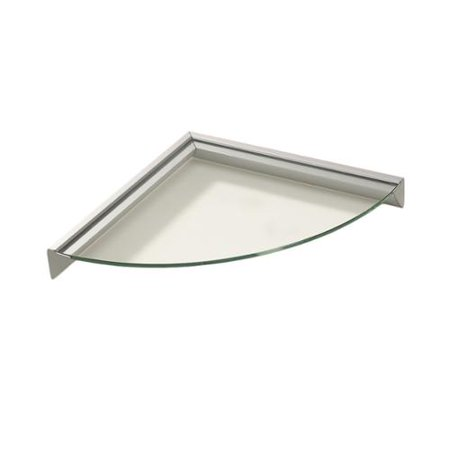 Wallscapes Essentials 12-inch Corner Clear Glass Shelf Kit - Walmart.com
