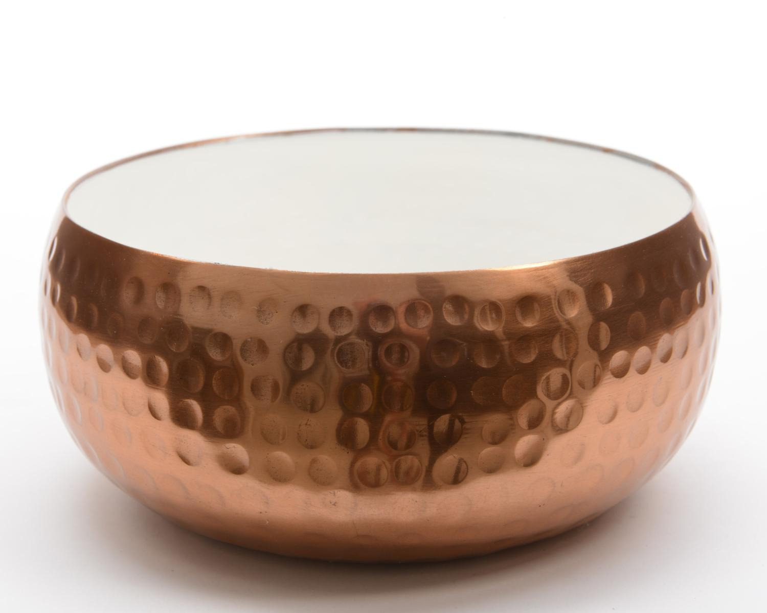 "8.75"" Basic Luxury Decorative Lily White and Copper Colored Bowl by Kaemingk"