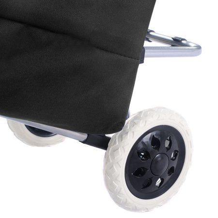 Costway Light Weight Wheeled Shopping Trolley Push Cart Bag Large Capacity - image 2 of 9