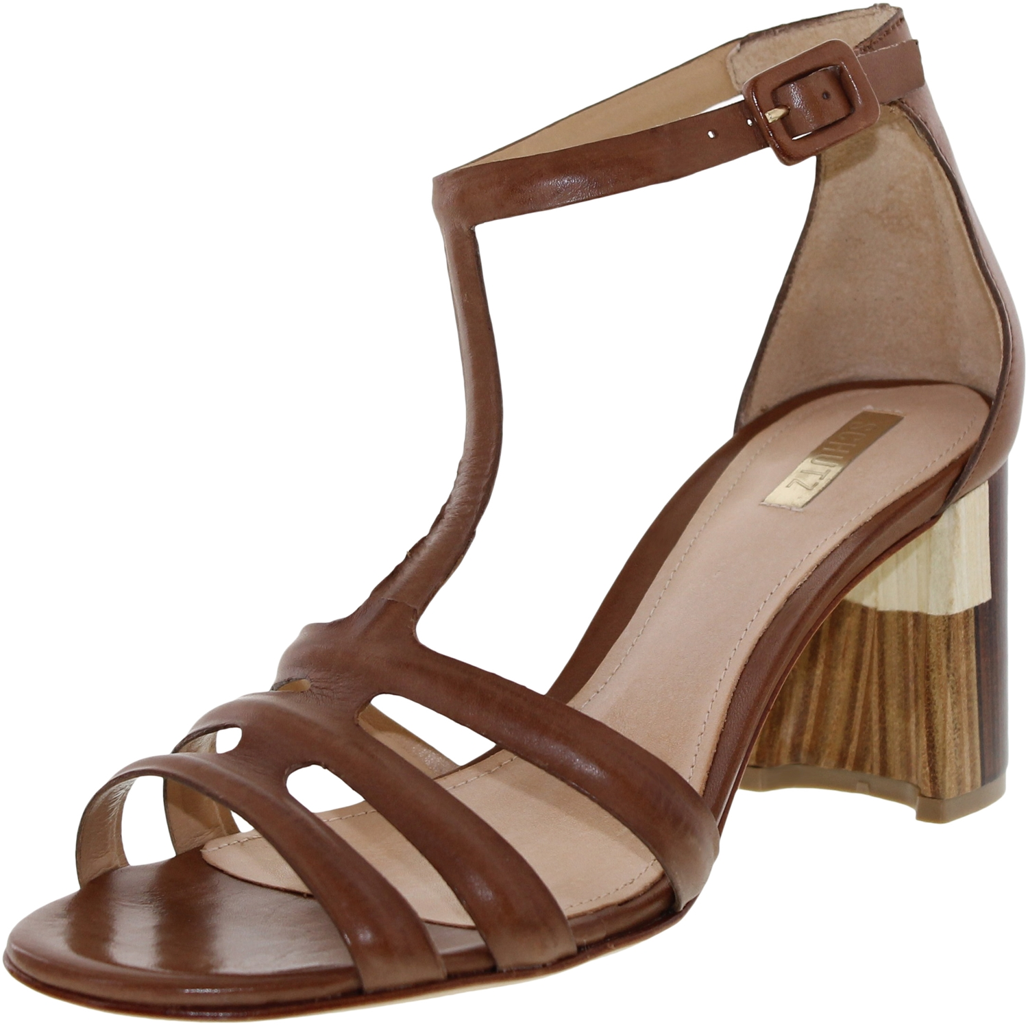 Schutz Women's Candida Boulder Ankle-High Leather Sandal - 9.5M