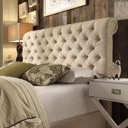 Signal Hills Knightsbridge Rolled Top Tufted Csterfield Queen adboard by