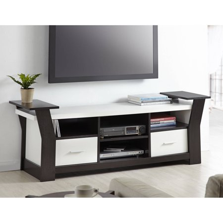 Furniture of America Landon Contemporary Tiered TV Stand for up to 65″, Multiple Colors