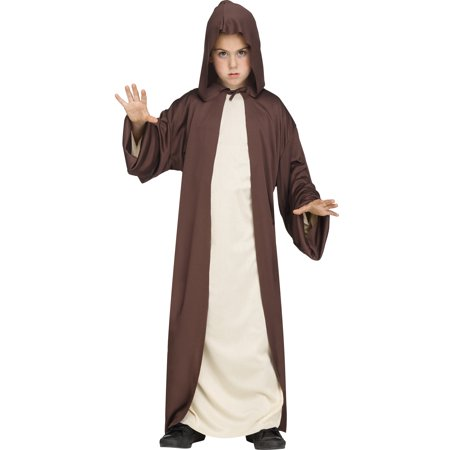 Hooded Robe Childs Jedi Sith Priest Monk Cloak Halloween Costume](Halloween Costume Priest)