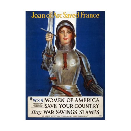 Joan of Arc Saved France - Women of America, Save Your Country, 1918 Print Wall Art By Haskell Coffin (Joan Of Arc Cheese)