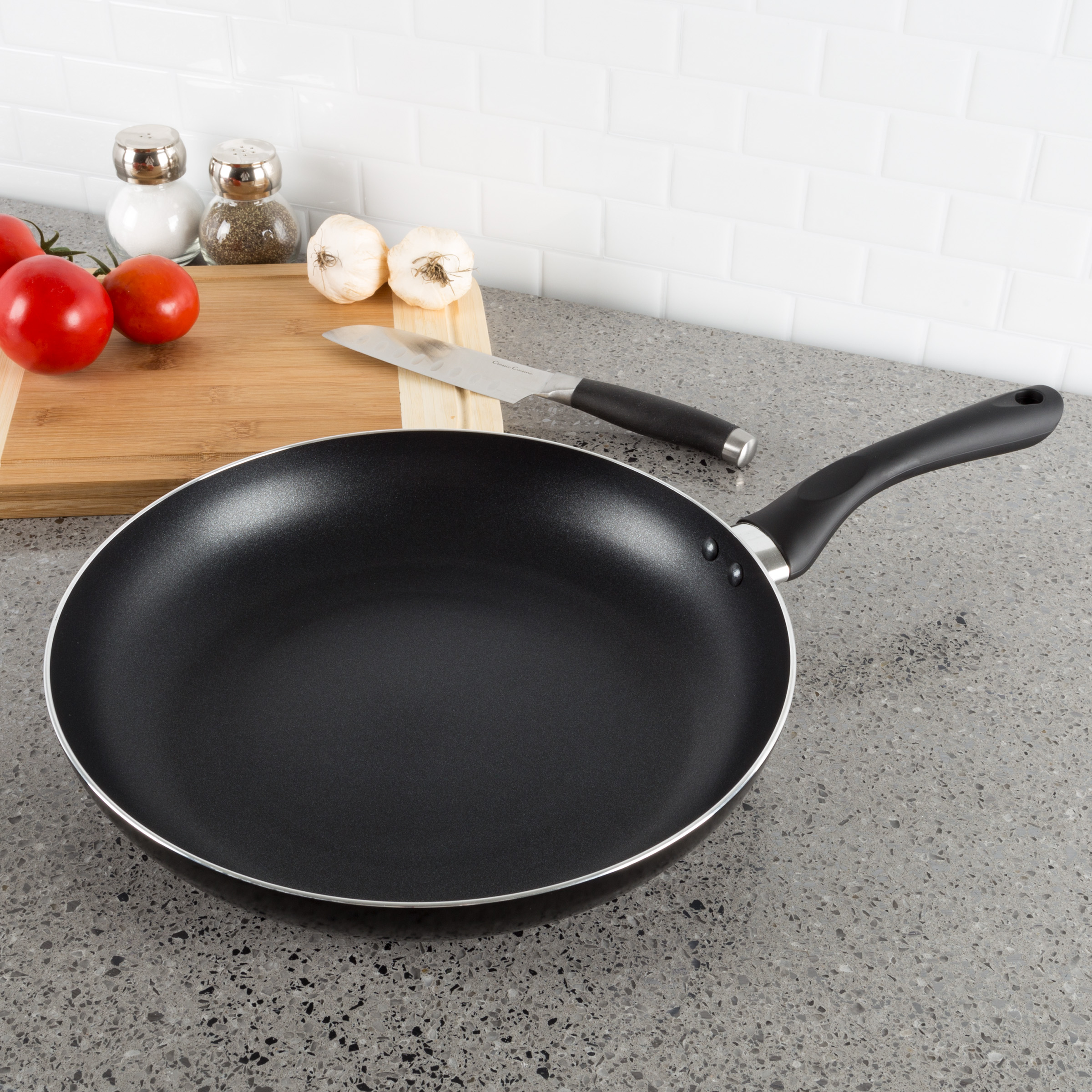 Non Stick 8? Frying Pan with Heat Safe Handle- Oven   Dishwasher Safe Allumi-Shield Cookware Skillet and... by Trademark Global