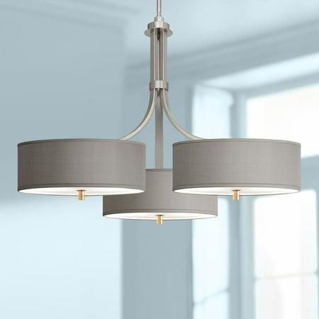 Possini Euro Design Gray Faux Silk 36