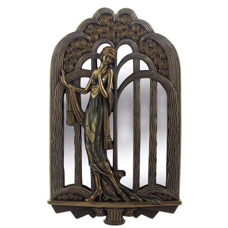 Art Deco Lady With Fountain Mirror - Art Nouveau & Art - Art Deco Fountain