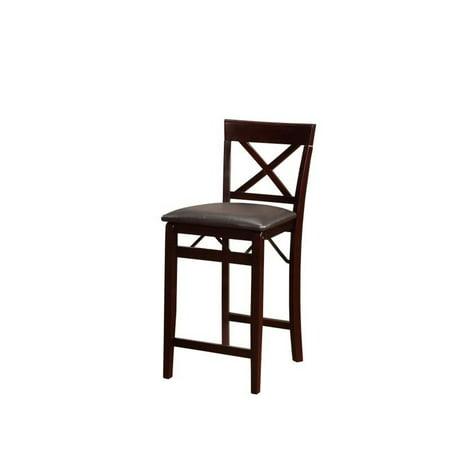 Awe Inspiring Linon Triena 24 Bar Stool In Espresso Brown Frankydiablos Diy Chair Ideas Frankydiabloscom