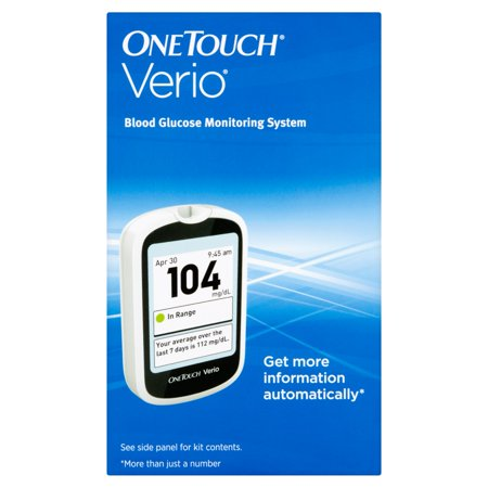Onetouch Verio Blood Glucose Monitoring System Walmart Com