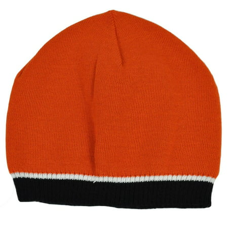 Solid Color Womens Ladies Thin Beanie Knit Winter Hat Cap Toque Cuffless Skully