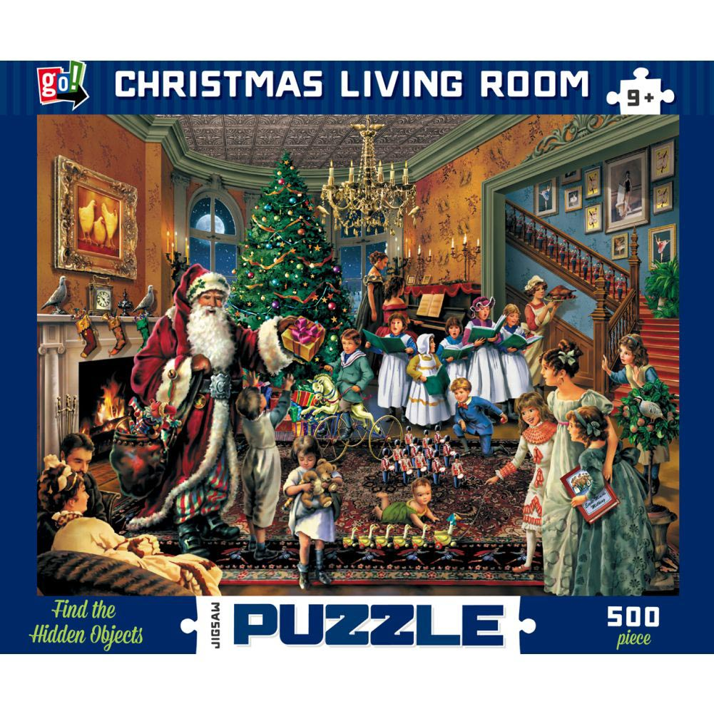 Christmas Living Room 500 Piece Puzzle,  Christmas Puzzles by Go! Games