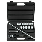 Stanley Tools for The Mechanic 17 Piece Socket Sets, 1/2 in, 12 Point