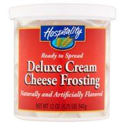 (3 Pack) Hospitality Deluxe Cream Cheese Frosting, 12 oz