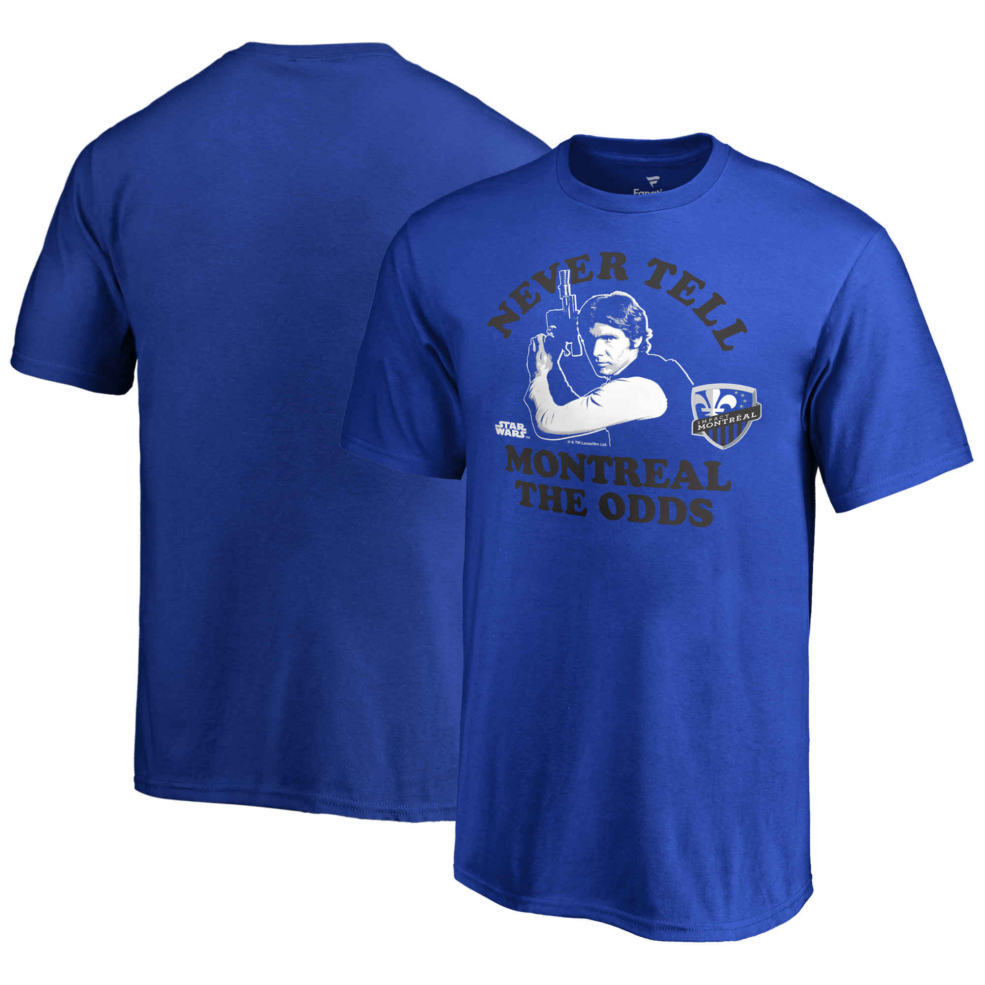 Montreal Impact Fanatics Branded Youth Star Wars Never Tell the Odds T-Shirt - Royal