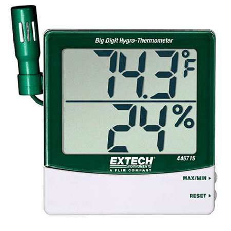 Extech 445715 Big Digit Remote Probe (Extech Hygro Thermometer)