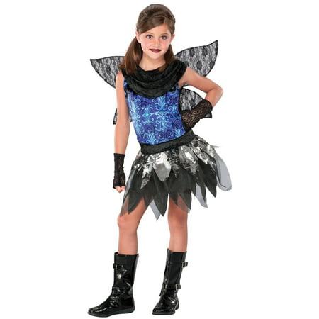Seasons Halloween Twilight Fairy 3pc Child Costume, Blue Black - Floor 7 Seasons Halloween
