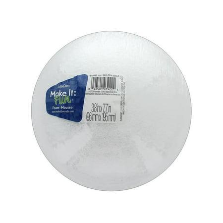 "Make It Fun FloraCraft Styrofoam 8"" Half White Ball, 1 Each"