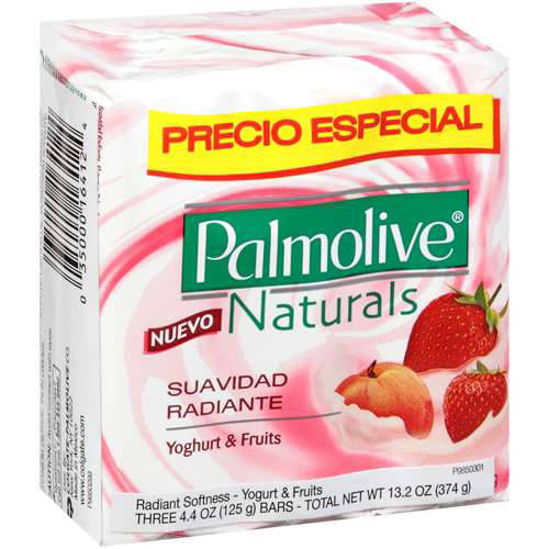 Colgate Hh Pal Nat Yogt & Frt Bar Soap 3pk 125g