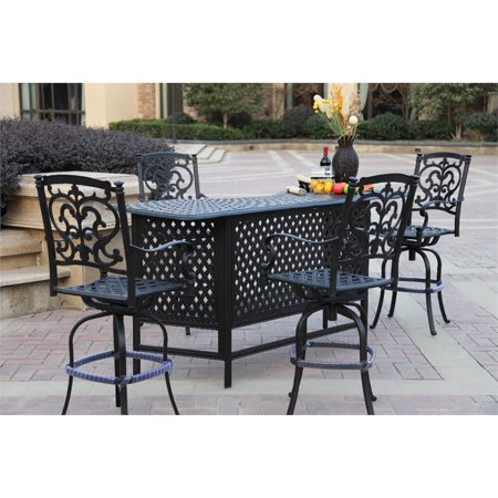 Darlee Santa Barbara 5 Piece Patio Pub Set with Seat Cushion ()
