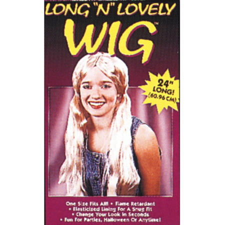 Blonde Long Locks Wig Adult Halloween Accessory